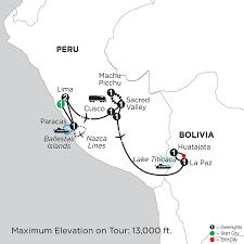 Lake Titicaca Map Monograms Tours Peru Highlights With Nazca Lines U0026 Bolivia U0027s Lake