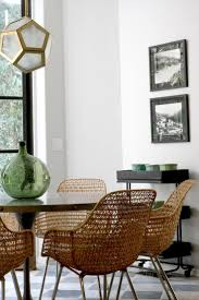 Modern White Dining Room Chairs Dining Room Indoor Rattan Furniture White Dining Table And