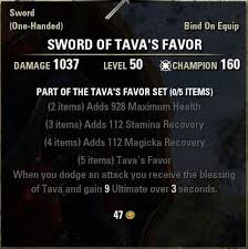 Favor Set by Set Bonus Crafting Locations Elder Scrolls Wiki