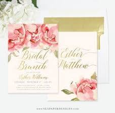 bridal brunch invite bokeh brunch bubbly invitation chagne bridal shower gold