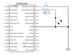 Led Blinking Circuit Diagram Atmega8 Breadboard Circuit Part 3 Of 3 The Firmware Protostack