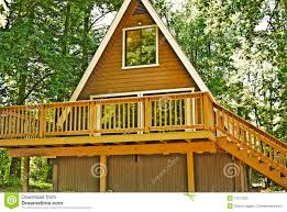wooden a frame house deck stock photos image 11211633