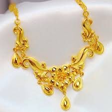 wedding gold set bridal jewelry sets three gold plated 24k gold