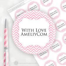 editable printable labels stickers tags pink chevron custom