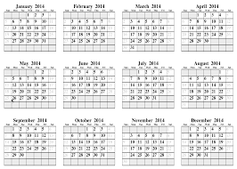 6 best images of 2014 calendar printable full page 2014 year