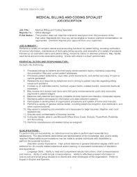medical billing sample resume medical billing and coding job description for resume resume sample medical coding resume what does a letter of resignation with medical billing and coding job
