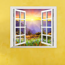 sunrise 3d artificial window pag wall decals hill view room sunrise 3d artificial window pag wall decals hill view room stickers home wall decor gift