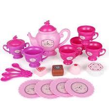 jeux de cuisine service service à thé lot de 19pcs tea set minnie platistiques service à