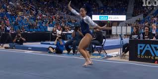 Hit The Floor Quan - watch a gymnast whip hit the quan and dab mid routine