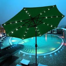solar powered umbrella lights corliving patio umbrella with solar power led lights patio umbrella
