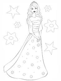 barbie princess coloring free printable coloring pages