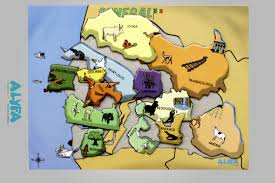 Dakar Senegal Map Puzzle Senegal Map Alyfa Toys