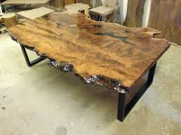 Redwood Dining Table Live Edge Furniture Live Edge Tables Wood Slab Furniture Fort
