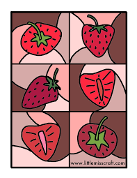 crafts strawberry coloring printable page
