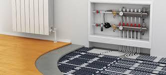 water underfloor heating which