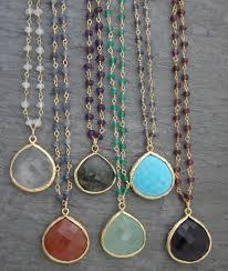 gemstone necklace pendant images Healing crystal gemstone pendants necklaces yoga spirit JPG