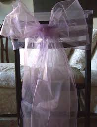 Purple Chair Sashes Lilac Organza Chair Sashes
