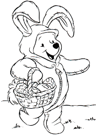 easter coloring pages disney winnie the pooh easter coloring