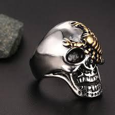 skull gothic rings images Skull bone gothic rings front launch jpg