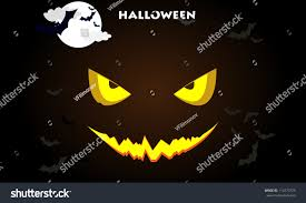 the background of halloween demonic halloween pumpkin glowing eyes on stock vector 114773725