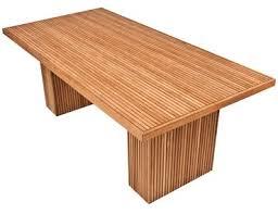 modern teak slatted dining table mecox gardens