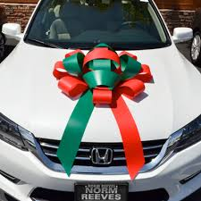 new car gift bow custom printed 30 magnetic car bow