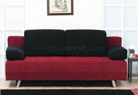 two tone fabric modern convertible sofa bed w pillows