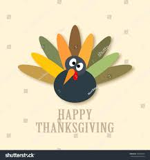 thanksgiving turkey graphic design vector illustration stock