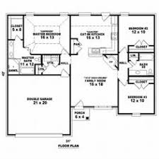 One Level House Plans 3bedroom 2 Bath Open Floor Plan Under 1500 Square Feet Really