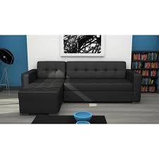 canapé lit cuir noir canape d angle convertible simili cuir pas cher maison design