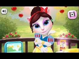 talking angela snow white story makeover gameplay