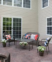 Sted Concrete Patio Designs Backyard Patio Makeover How To Nest For Less
