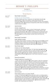 Financial Consultant Resume Sample by Real Estate Consultant Resume Samples Visualcv Resume Samples
