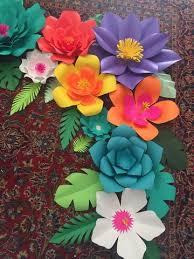 paper flower paper flower tropical diy kit ezmicreationspaperflowers