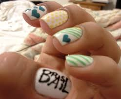 fun nails diy stars skull nail art design neon pink black easy