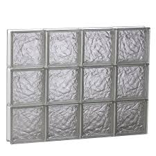 shop redi2set ice glass pattern frameless replacement glass block
