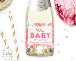 oh baby wine labels baby shower champagne labels mini