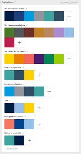 canva color palette ideas penn state colors