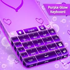 purple pictures purple glow keyboard free android apps on play