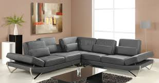 Grey Leather Sectional Sofa Sectional Sofa In Grey Leather By At Home Usa