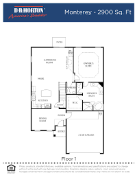 dh horton floor plans dr horton monterey floor plan thefloors co