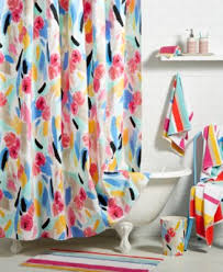 Kate Spade Striped Shower Curtain Kate Spade New York Paintball Floral Bath Collection Bathroom