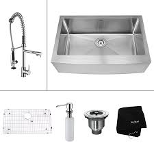 Apron Sinks At Lowes by Shop Kraus Kitchen Combo 20 75 In X 32 9 In Single Basin Stainless