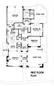 House Plans Colonial Spanish Colonial House Plans With Courtyard