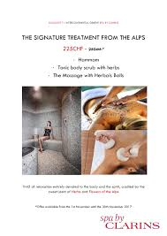spa by clarins monthly offer intercontinental geneva a luxury