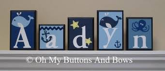 name blocks hanging name letters baby name blocks whale