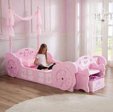 Barbie Princess Bedroom by Disney Princess Carriage Toddler To Twin Bed Pink Toys