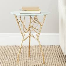 Blue Accent Table Safavieh Treasures Tara Gold Blue White Top Accent Table Free
