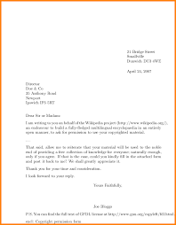 11 formal letters examples letterhead template sample