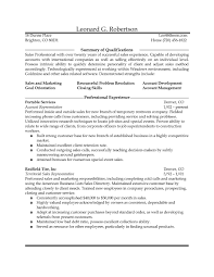 Resume Samples Summary Of Qualifications by Resume Direct Sales Representative Resume Samples Mofobar Free